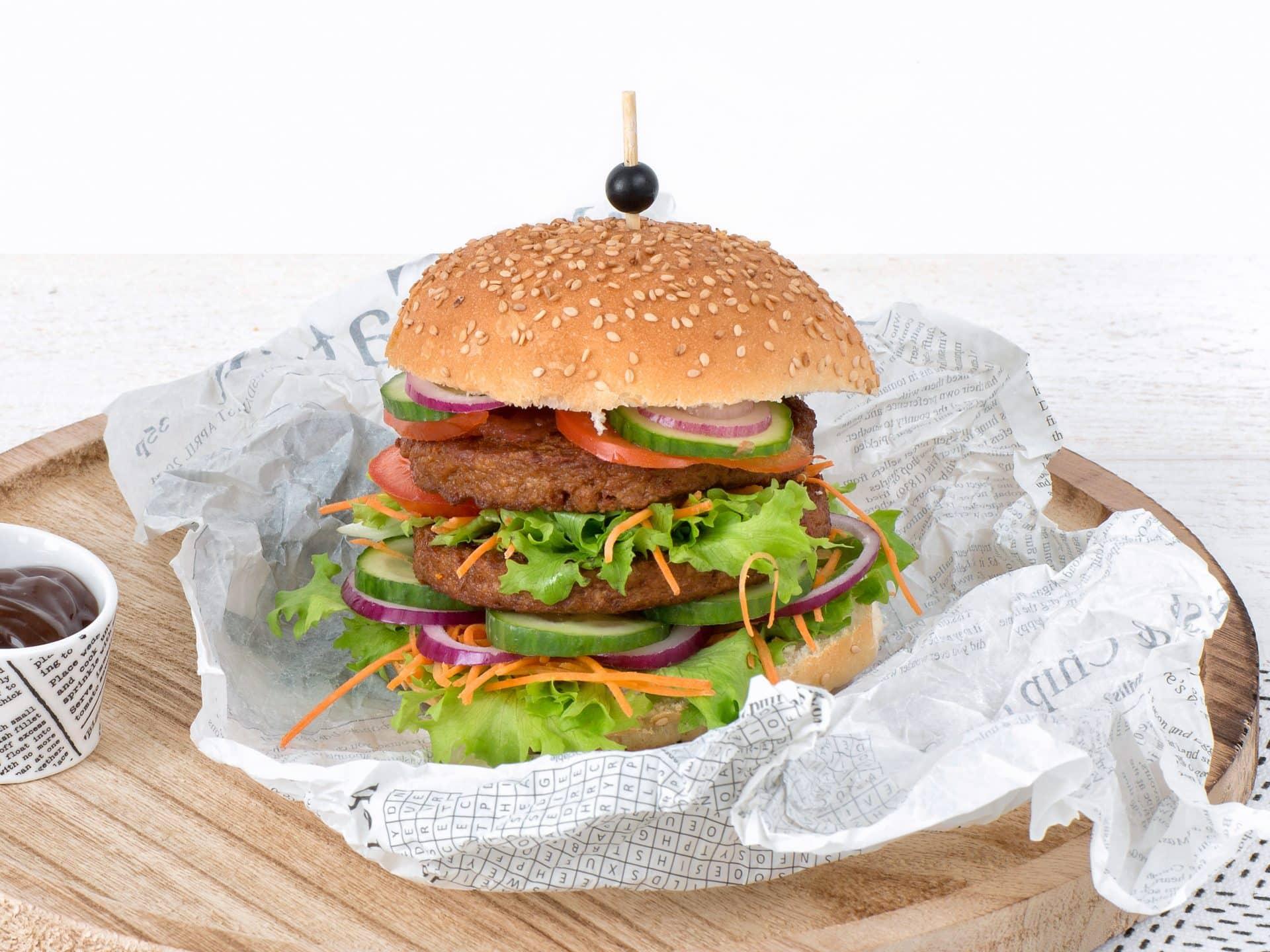 substituts de viande: Burger végétarien Grillé