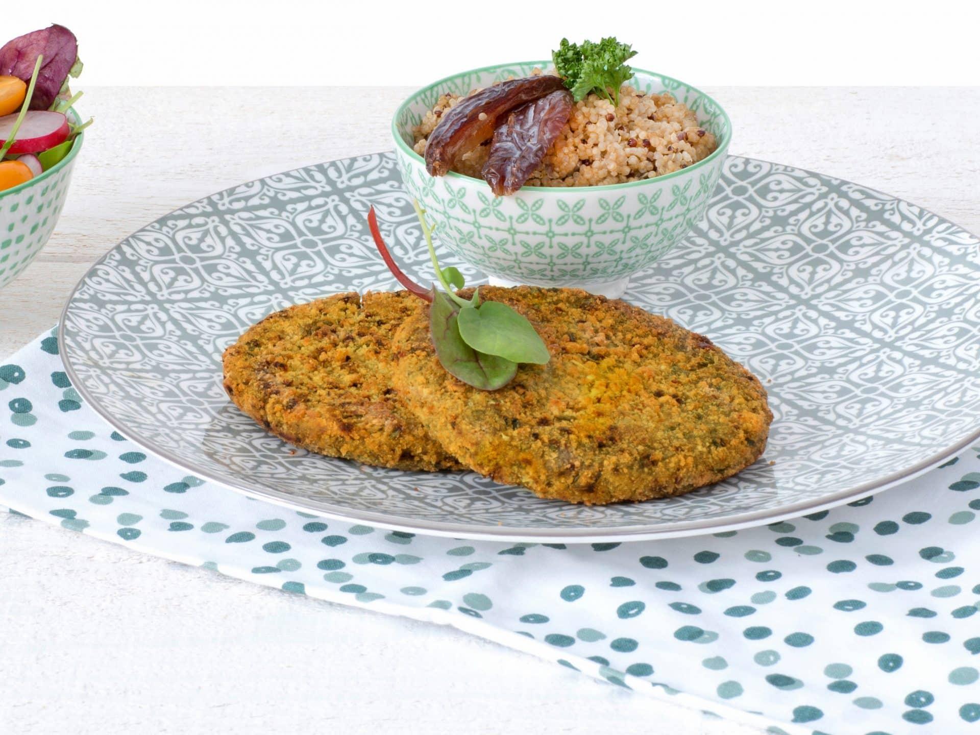 substituts de viande: Burger végétalien aux Lentilles vegetalien