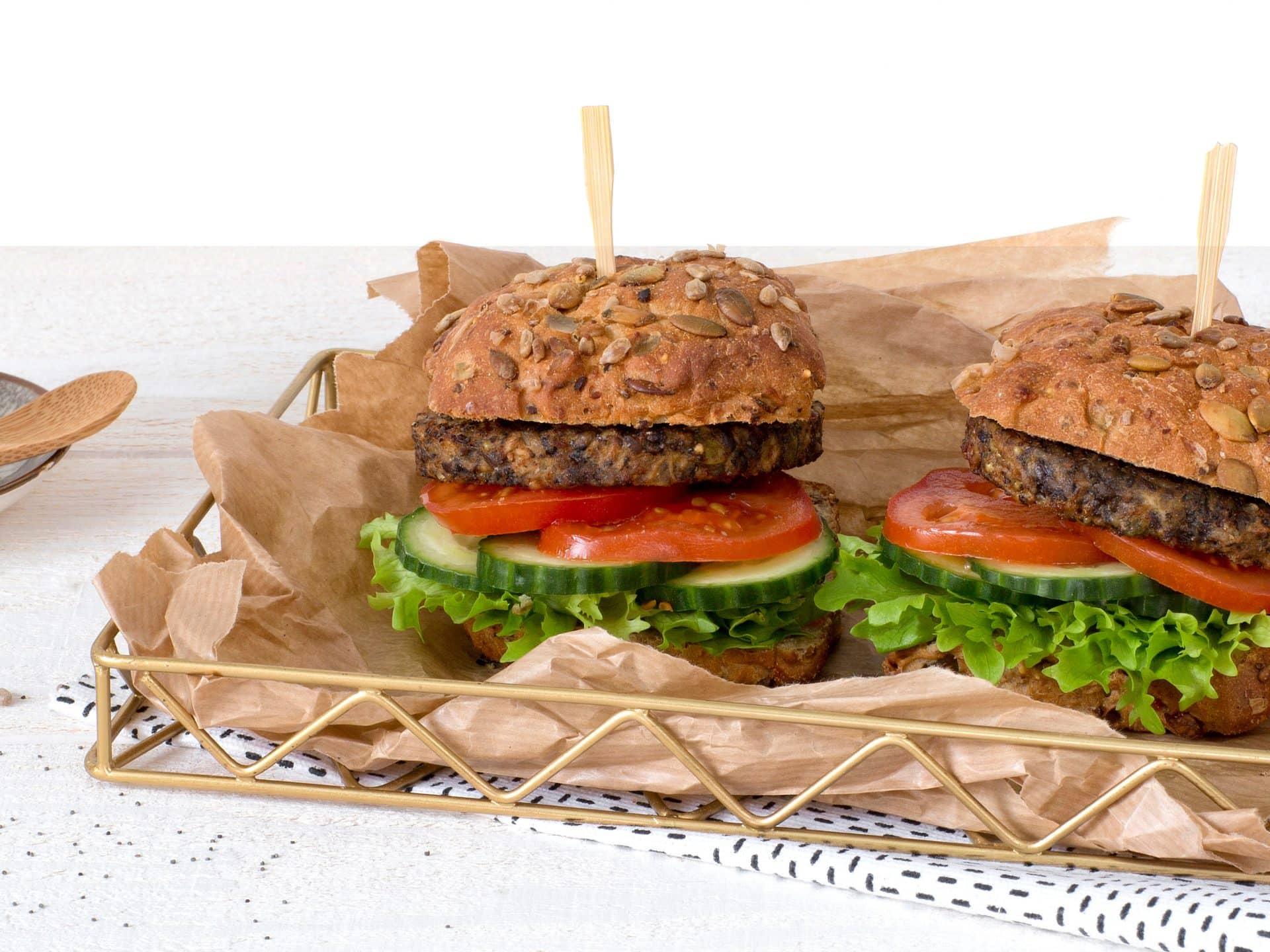substituts de viande: Burger végétarien aux graines