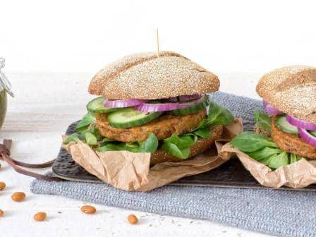 Meat substitute: Vegan Bean Burger