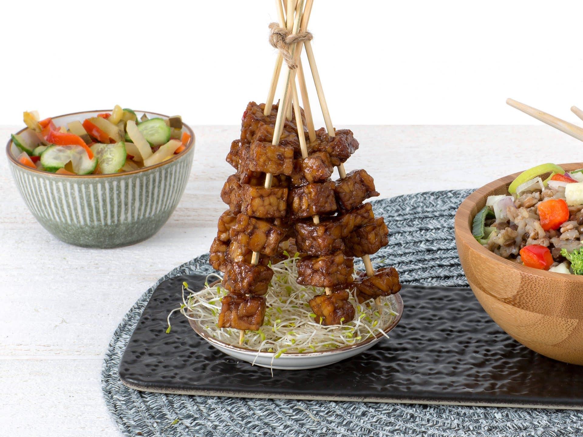 Vleesvervanger: Vegan Tempeh Blok Ketjap