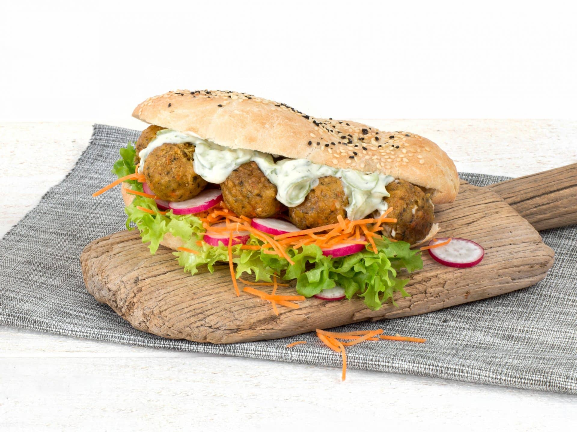 substitut de viande: Le falafel végétalien,