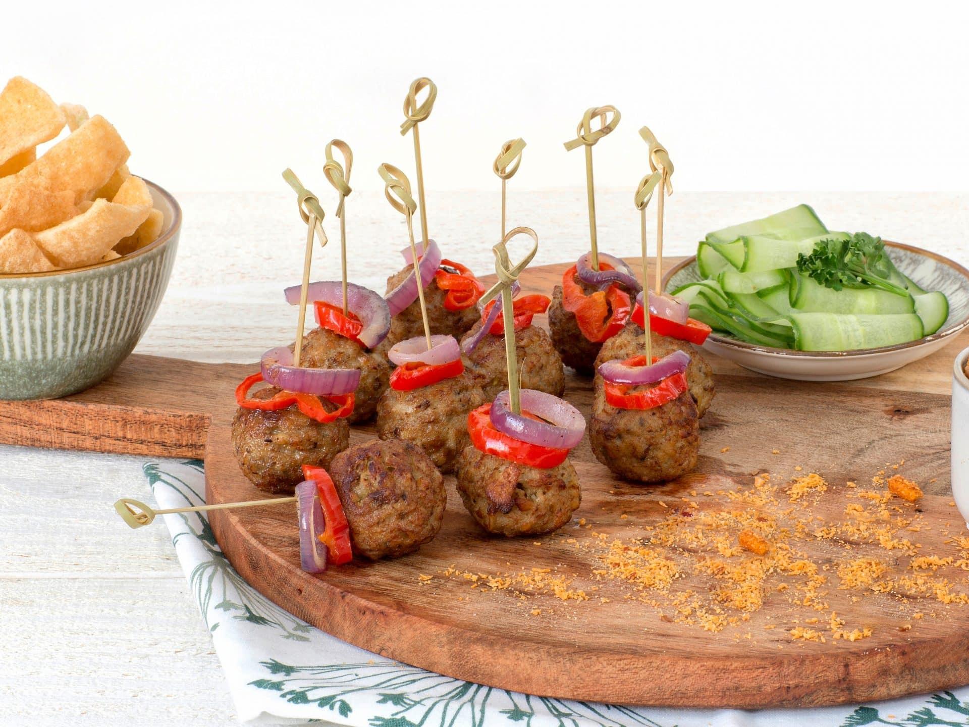 substituts de viande: bouchées végétariennes aux noix