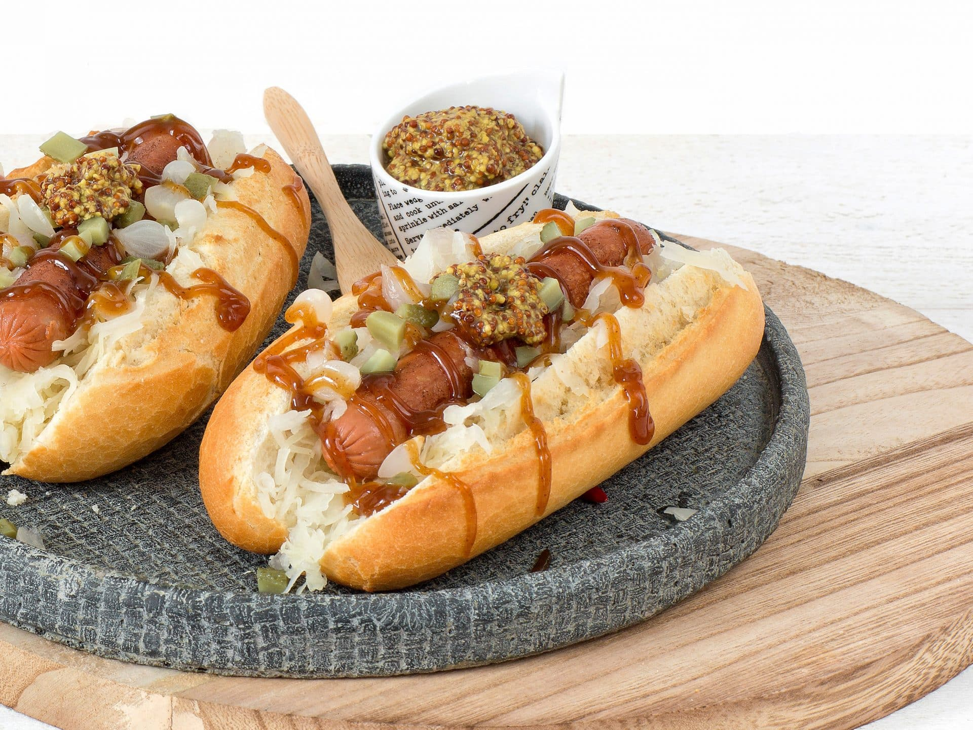 Meat substitute: Vegetarian Frankfurter sausage