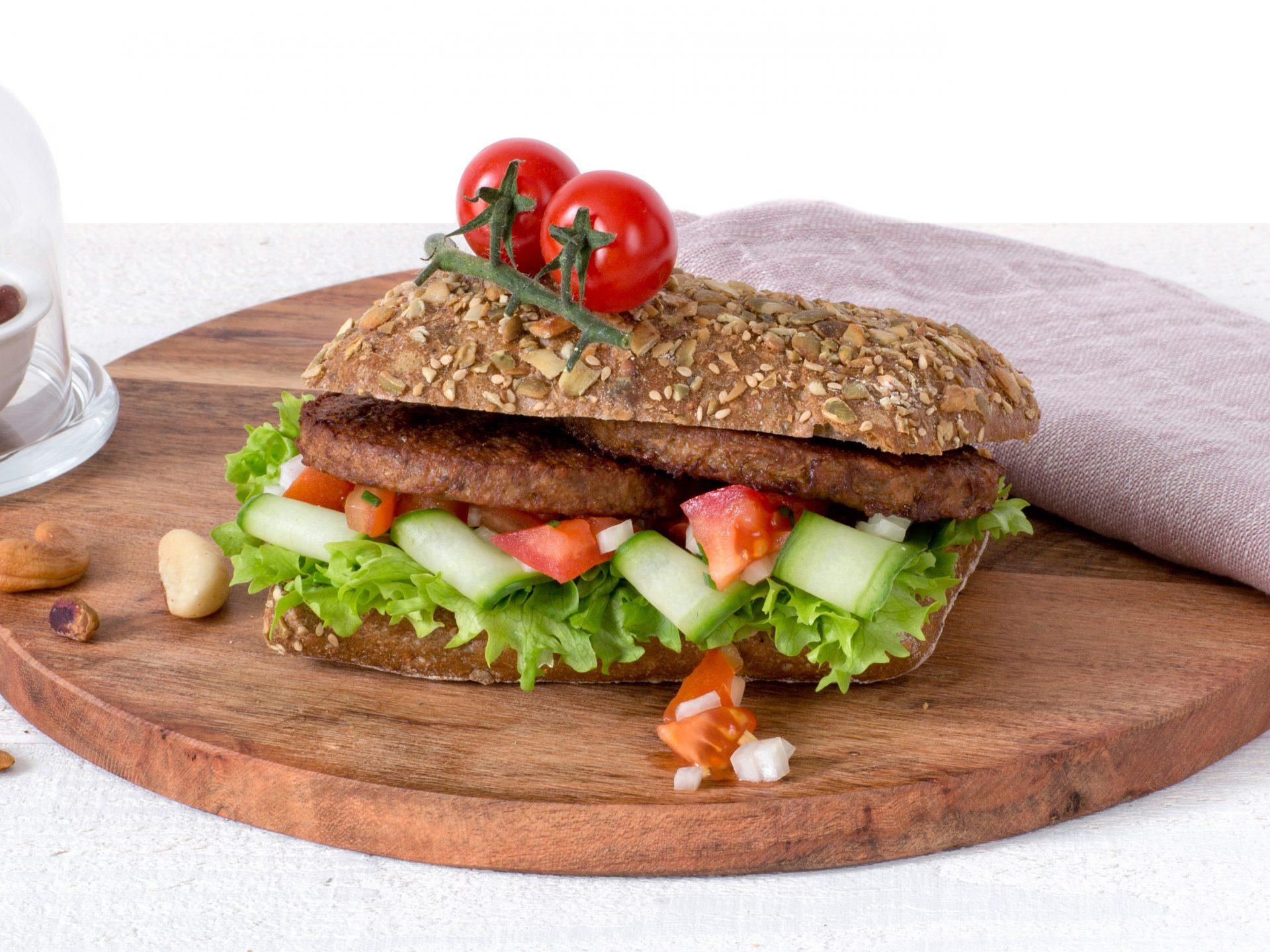 Fleischersatz: vegetarischer nussburger