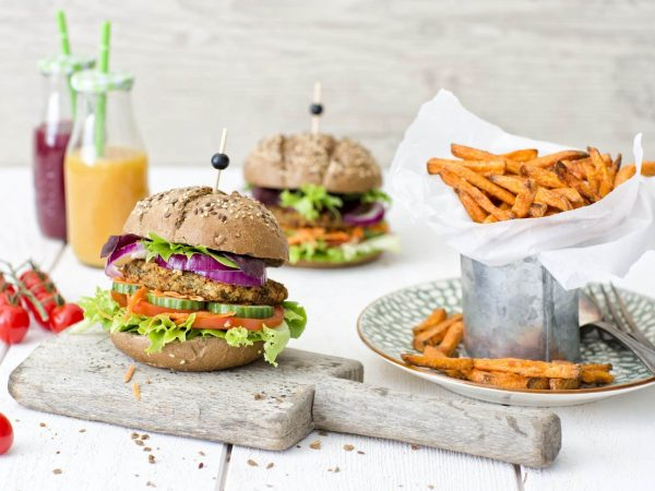 "Wouter Schouten tells us a little bit more about the vegan lentil burger: ""We launched this product in May 2016, during the year of pulses. That was also the ideal time for Schouten Europe to focus even more on the development of products containing pulses. The flavour of the lentil burger is a nod to North African cuisine: spicy, with a sweet hint of dates. We use green laird lentils in our burgers. These lentils have a better structure and bite when cooked compared to red lentils. That allows us to create burgers with a mix of textures: juicy and tender on the inside, and crunchy on the outside. The spice mix is inspired by ras el hanout: cardamom, mace, cinnamon, coriander and cloves. Personally, I love to eat our lentil burger with a vegetable stew made in the tajine."""